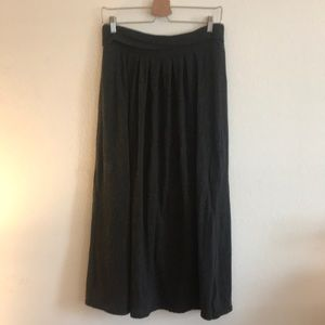 Old Navy Dark Grey Fully Lined Maxi Skirt sz M